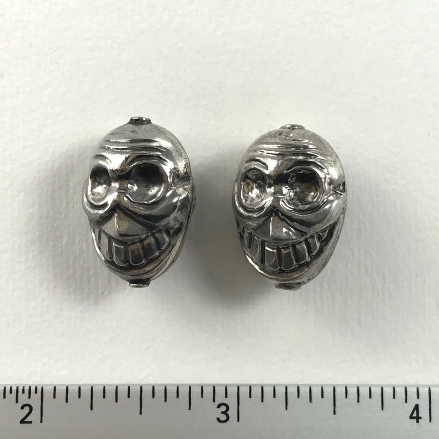 Bali/India Silver Stamped Head Bead (BAS_130)