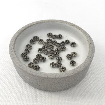 Bali/India Silver Granulated Rondelle Bead (BAS-G144)