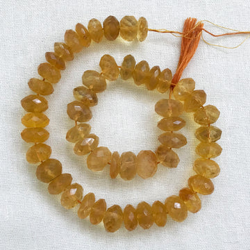 Citrine Faceted Rondelle Bead Strand (CIT_020)