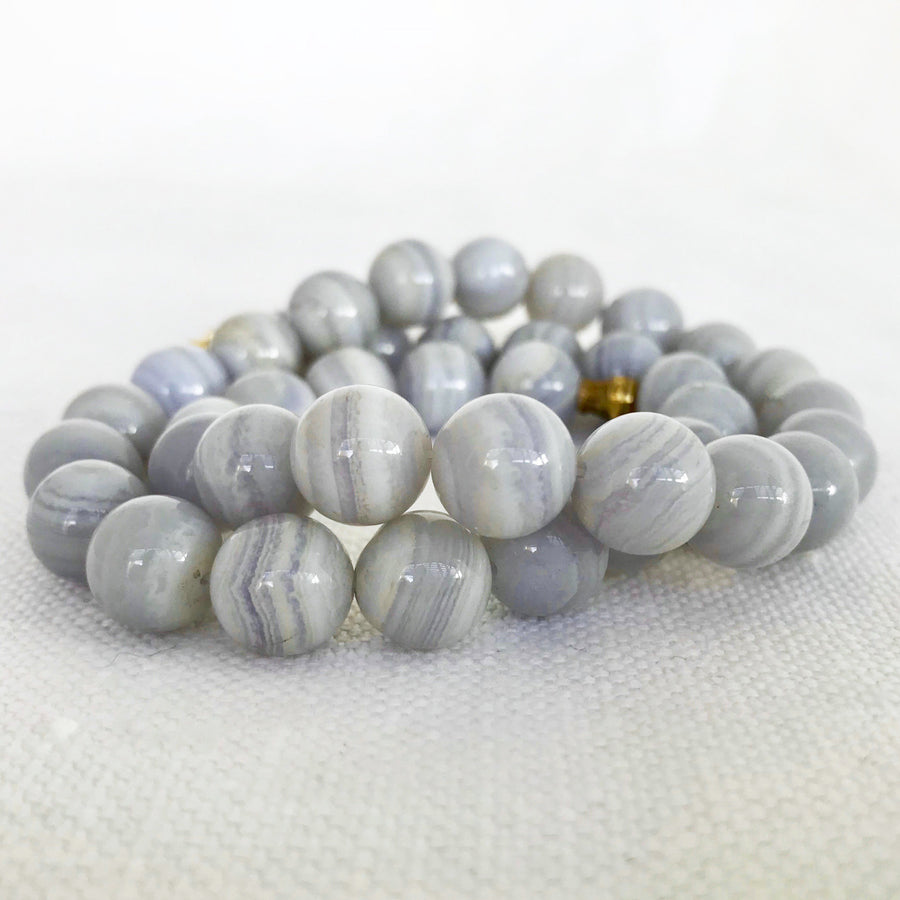 Crazy Lace Agate Round Clasp Bead Strand (CLA_008)