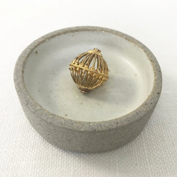 Gold plate  Round Bead (GOP_020)