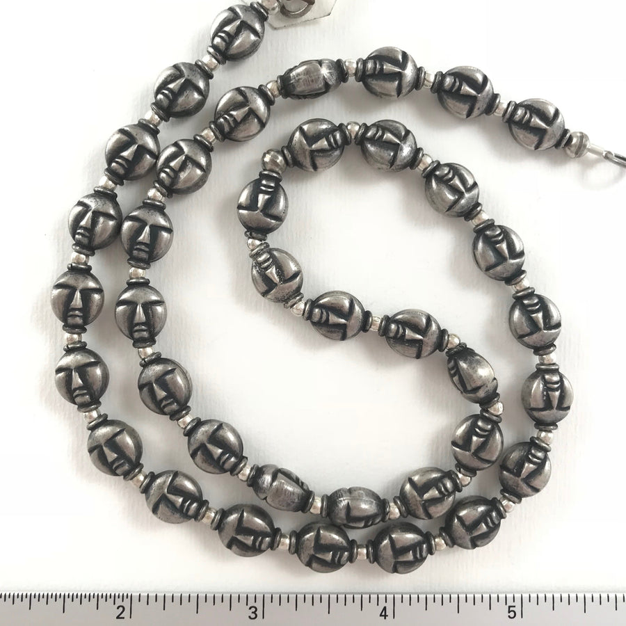 Silver  Head Bead Strand (INS_030)
