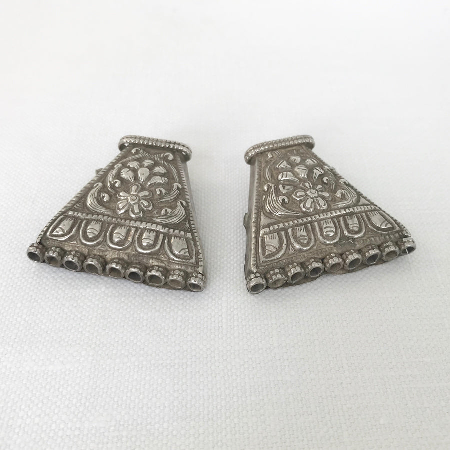 Silver Pair Trapezoid Bead Spacer (INS_060)