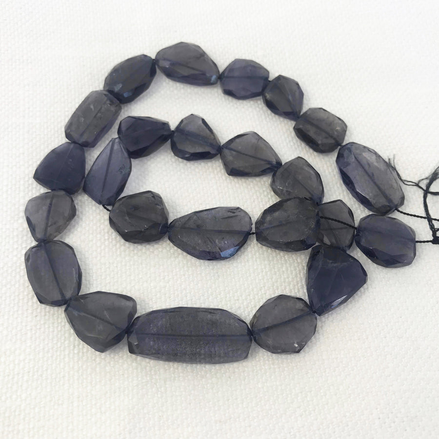 Iolite Faceted Nugget Bead Strand (IOL_003)