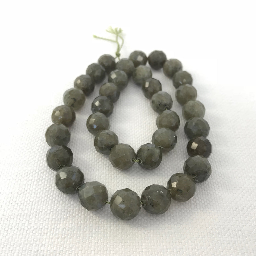 Labradorite Faceted Round Irridescent Bead Strand (LAB_024)