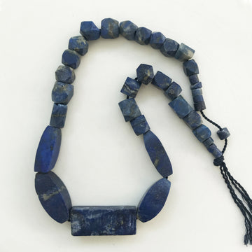 Lapis Graduated faceted Bead Strand (LAP_020)