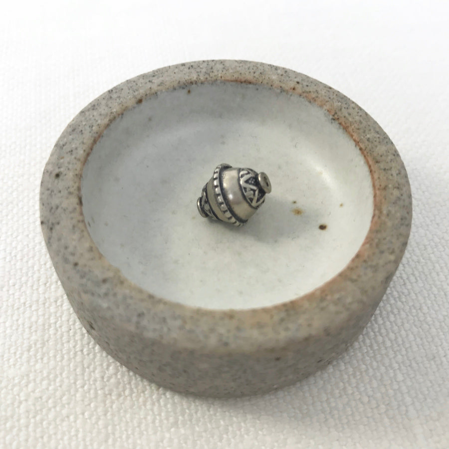 Silver Stamped Cone Bead (SLS_023)