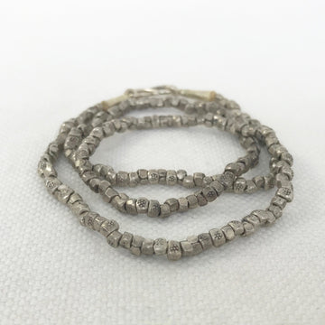 Thai Silver Stamped Tube Necklace (THS_009j)
