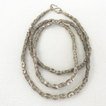 Thai Silver Faceted Oval Necklace (THS_010j)