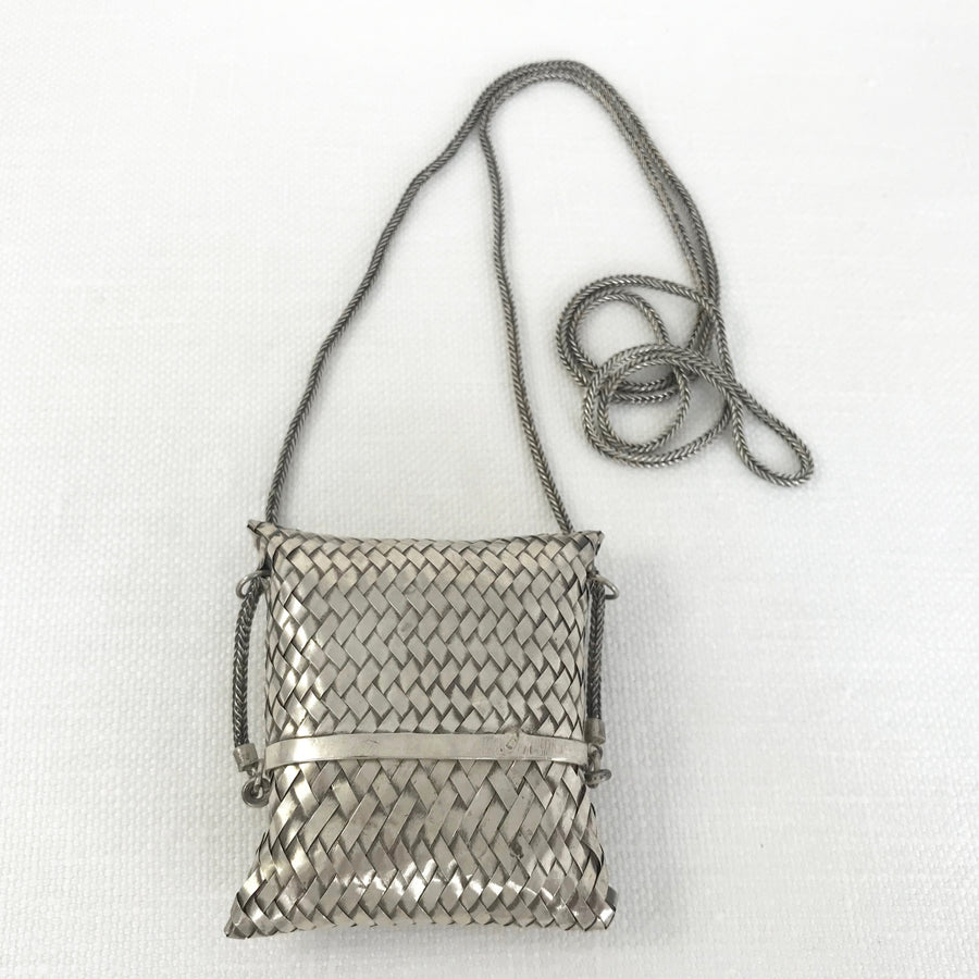 Thai Silver  Pouch Necklace (THS_026)
