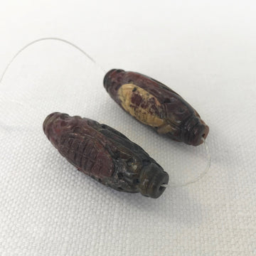 Tiger eye Carved Oval Matching Pair Bead (TIG_015)