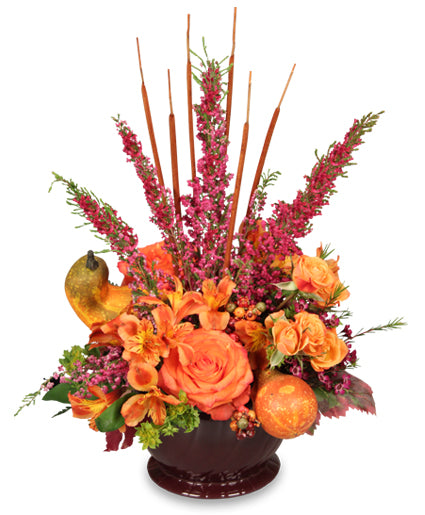 autumn color vase
