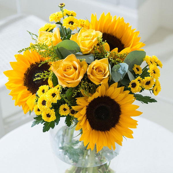 sparkling yellow vase
