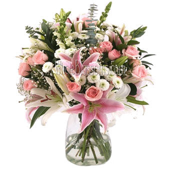 loving pink  arrangement