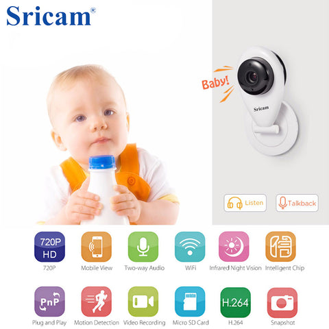 HD Mini Wifi IP Camera Wireless 720P Smart Baby Monitor Network CCTV Security Home Protection Mobile Remote camera baby monitor
