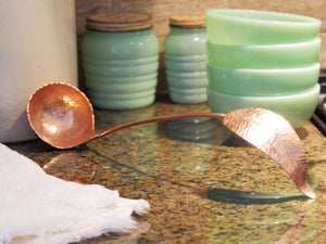"""Soar"" Feather Soup Ladle -Big C Copper, Local Coppersmith, American Made copper home goods, copper gifts, copper jewelry, 7th anniversary"