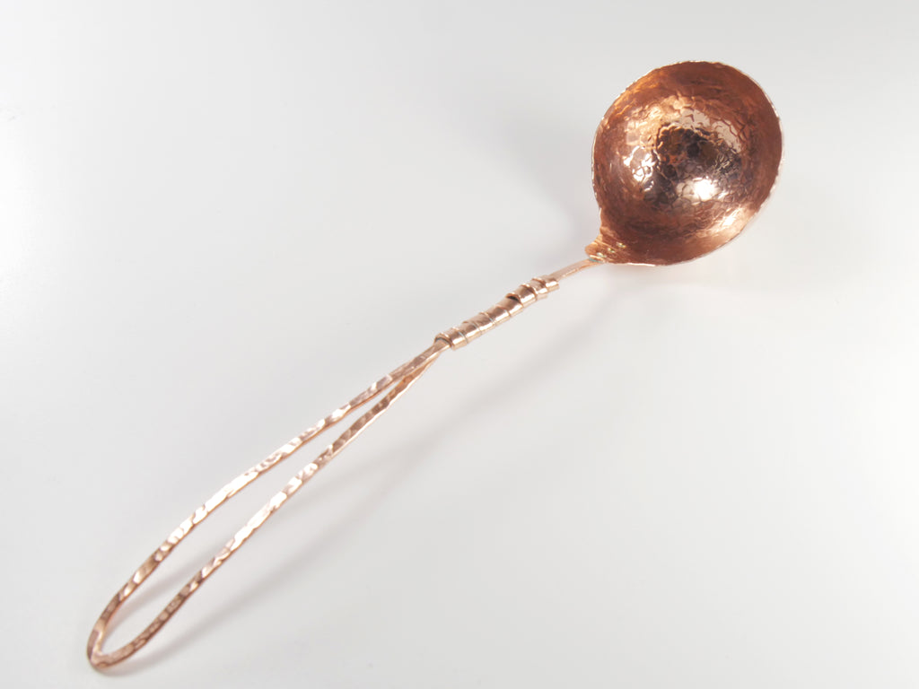 Soup Ladle -Big C Copper, Local Coppersmith, American Made copper home goods, copper gifts, copper jewelry, 7th anniversary