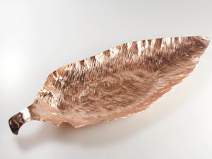 """Grow"" Leaf Platter -Big C Copper, Local Coppersmith, American Made copper home goods, copper gifts, copper jewelry, 7th anniversary"