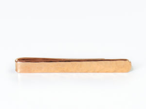 Tie Clip -Big C Copper, Local Coppersmith, American Made copper home goods, copper gifts, copper jewelry, 7th anniversary