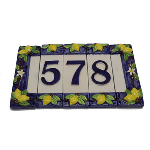 Vietri House Numbers Set of Three Pcs + Frames