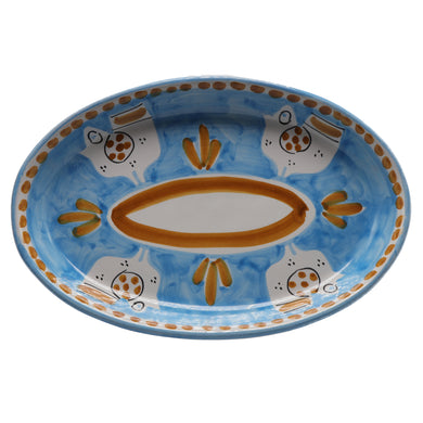 Vietri Chicks Oval Plate