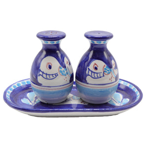 Vietri Salt & Pepper Bottles Set With Whale  Design