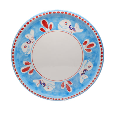 Vietri Pizza Plate with Whale Design