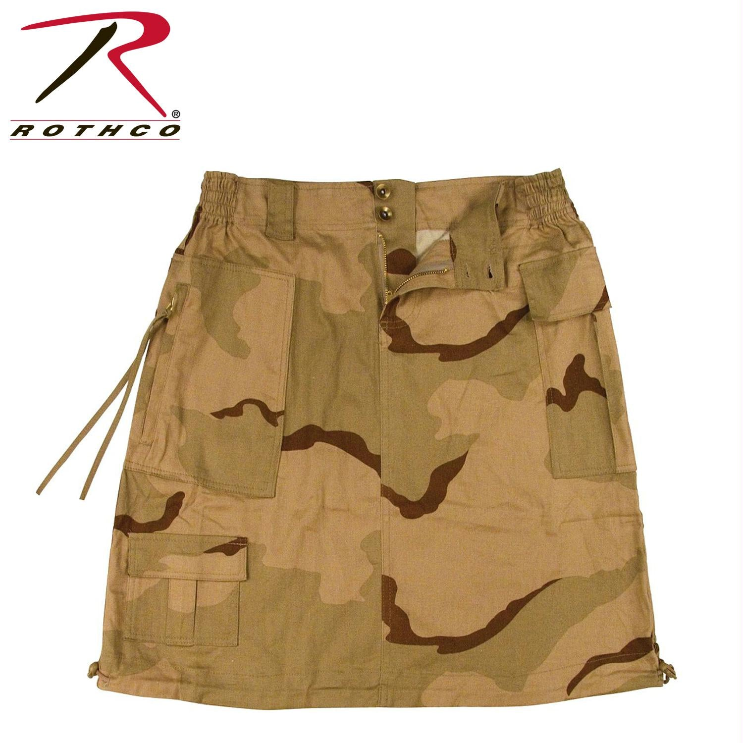Rothco Womens Knee Length Skirt - Tri-Color Desert Camo / S