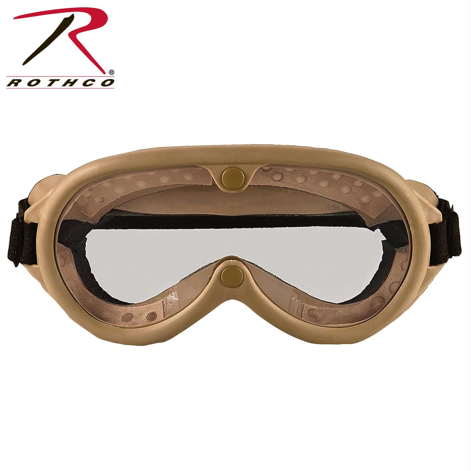 Rothco G.I. Type Sun, Wind & Dust Goggles - Tan