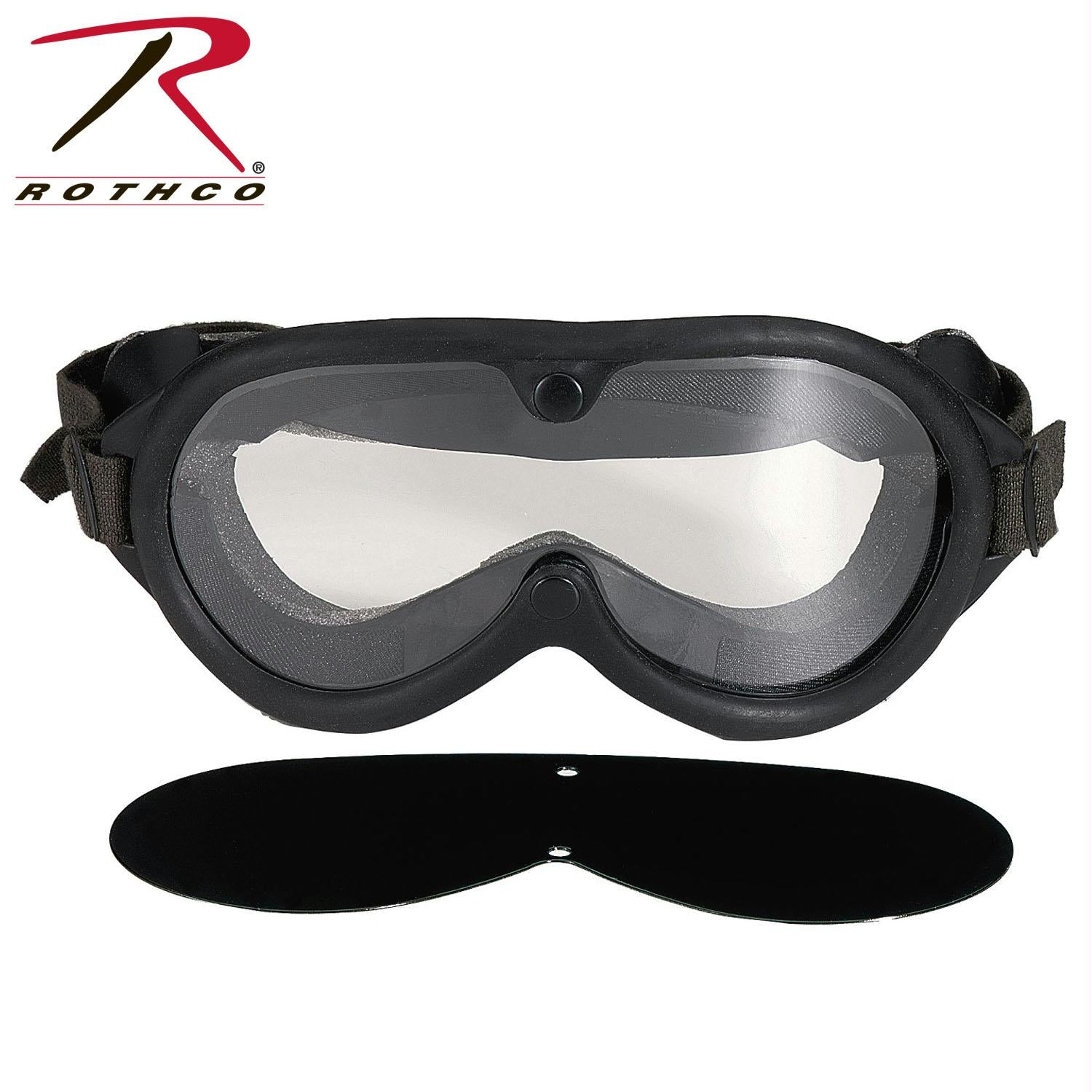 Rothco G.I. Type Sun, Wind & Dust Goggles - Black