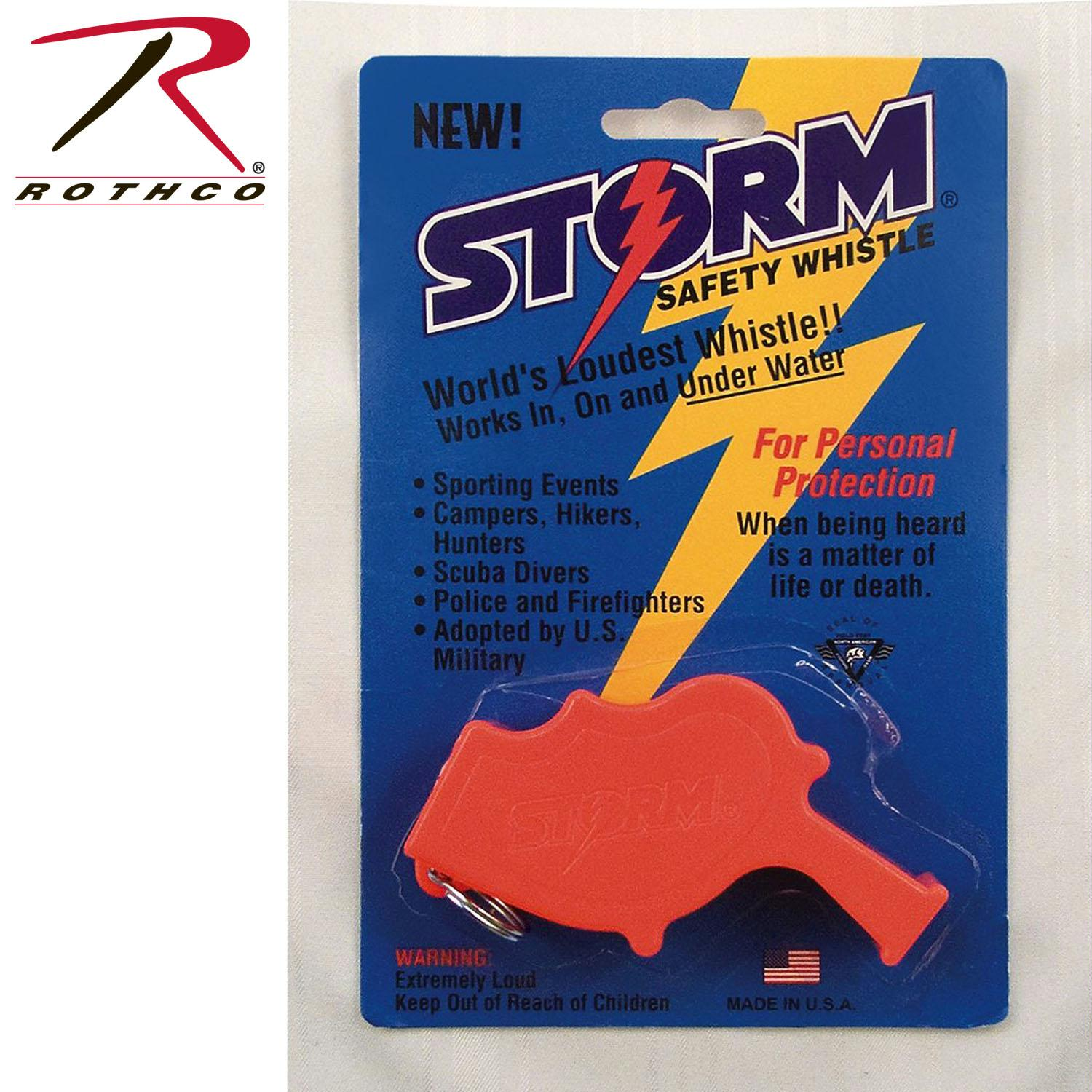Rothco U.S. Navy storm All Weather Whistle - Orange