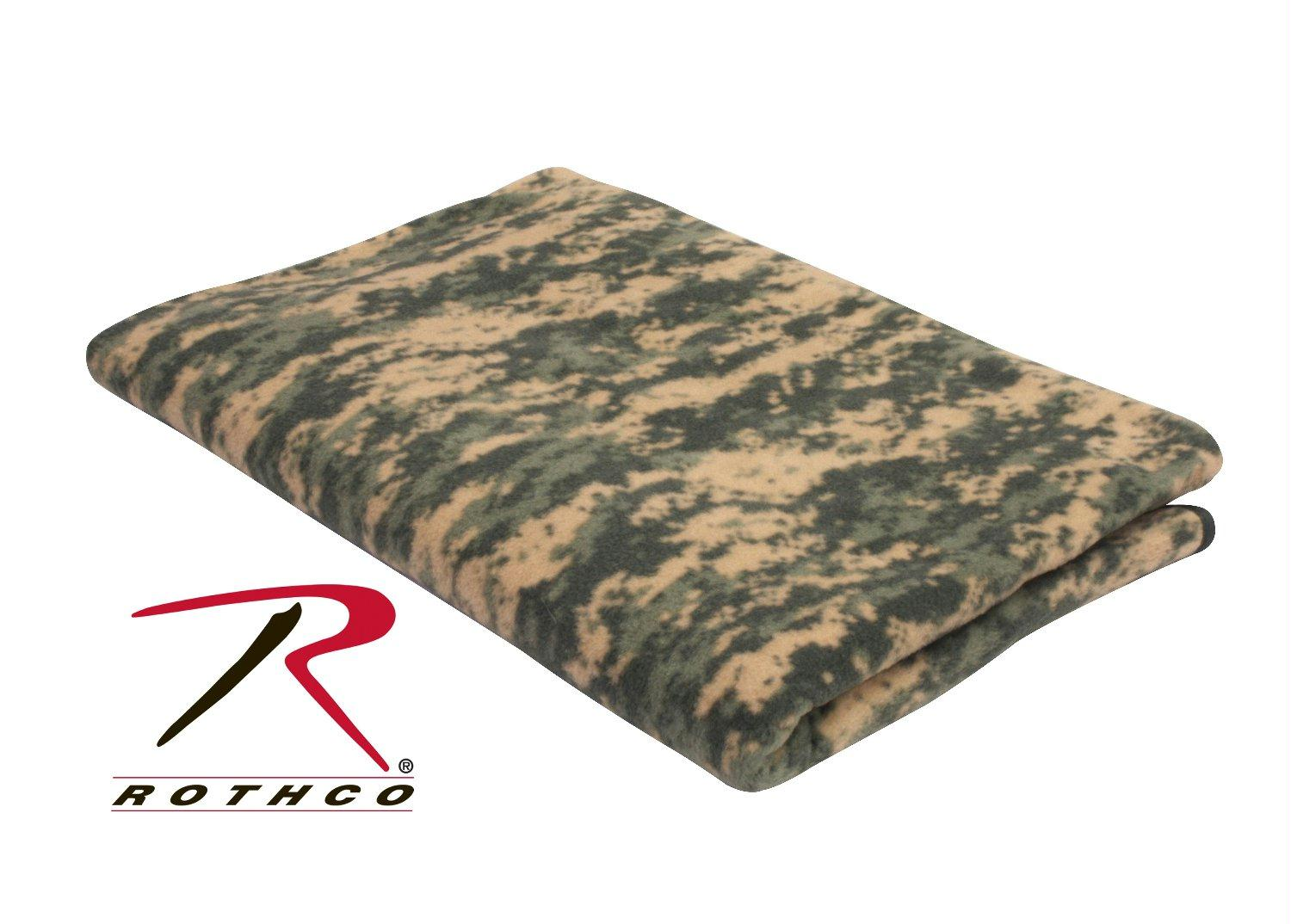 Rothco Camo Fleece Blanket - ACU Digital Camo