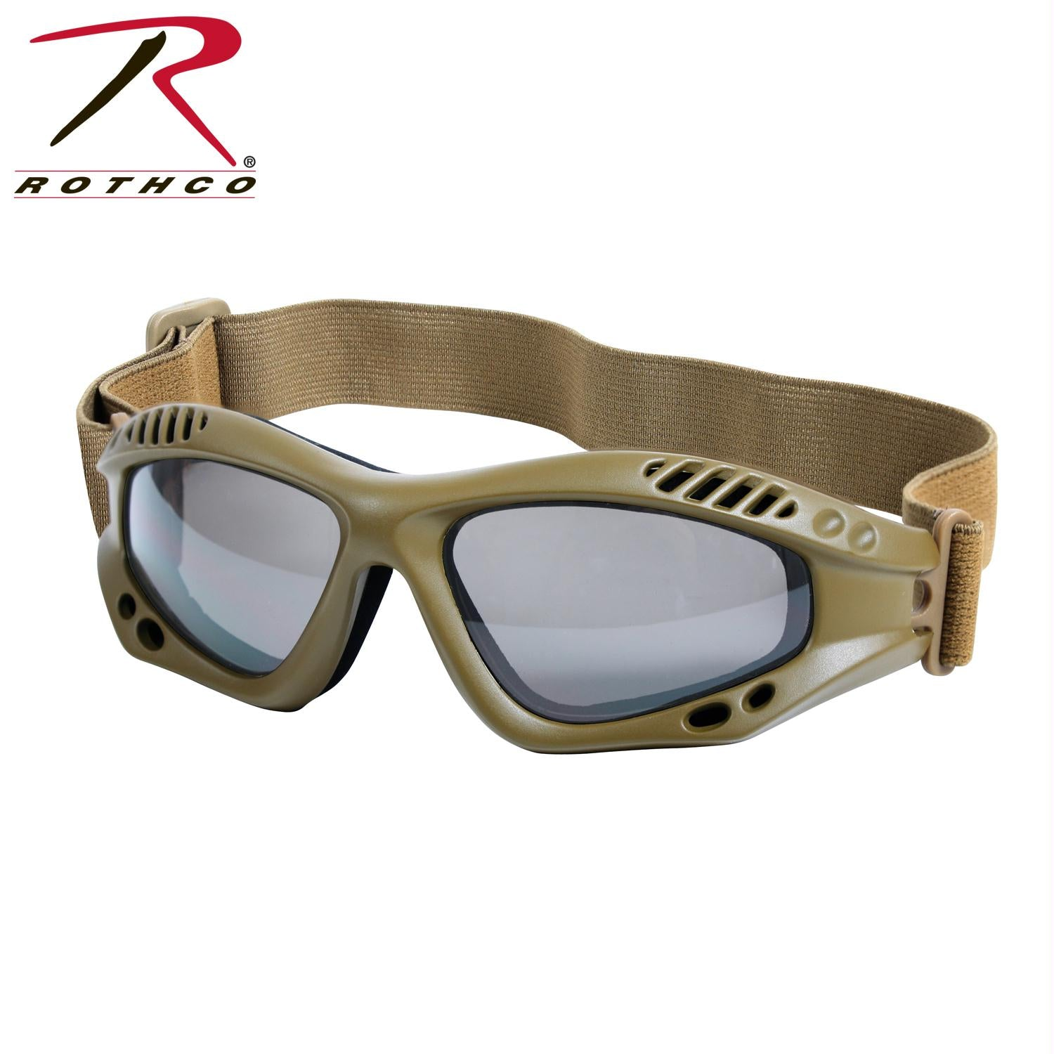 Rothco Ventec Tactical Goggles - Coyote Brown