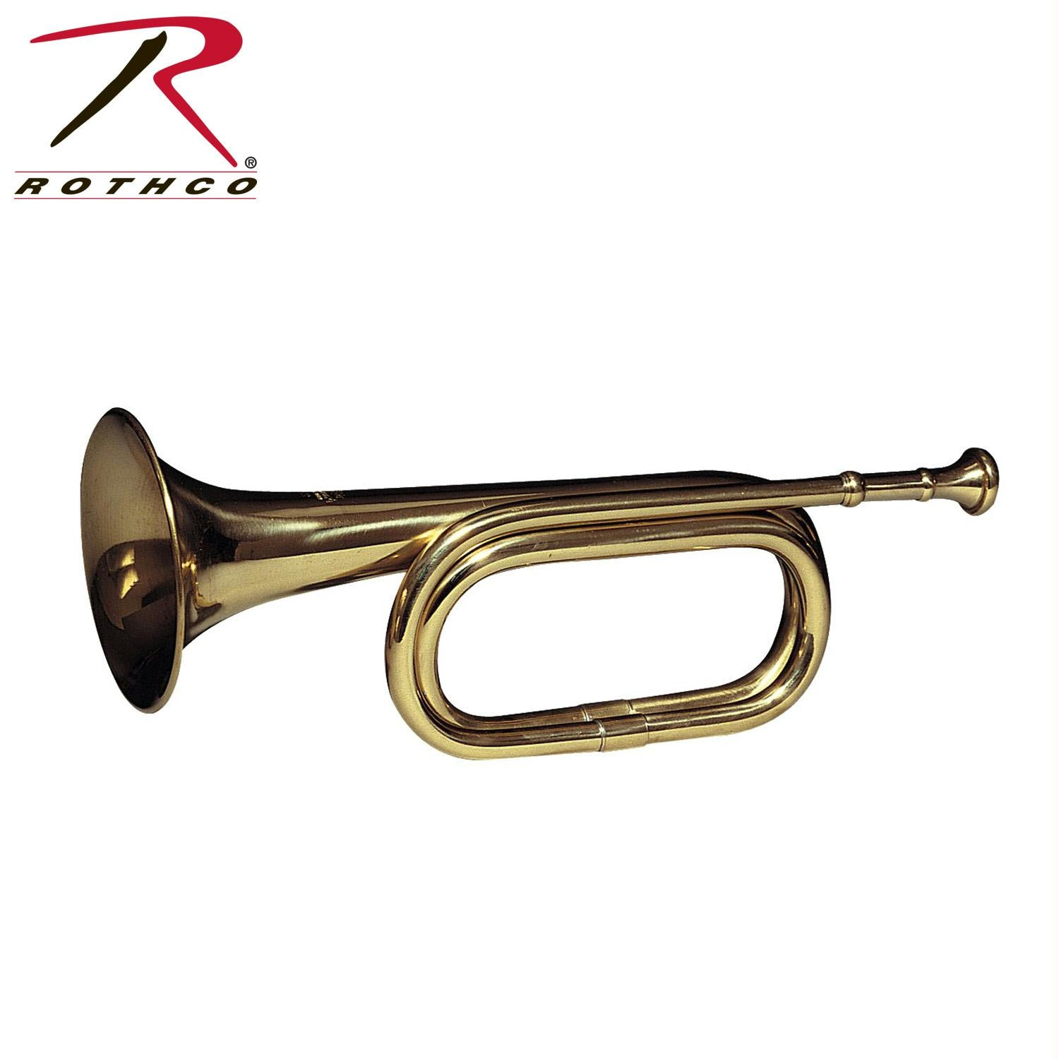 Rothco Brass Cavalry Bugle - Brass / One Size