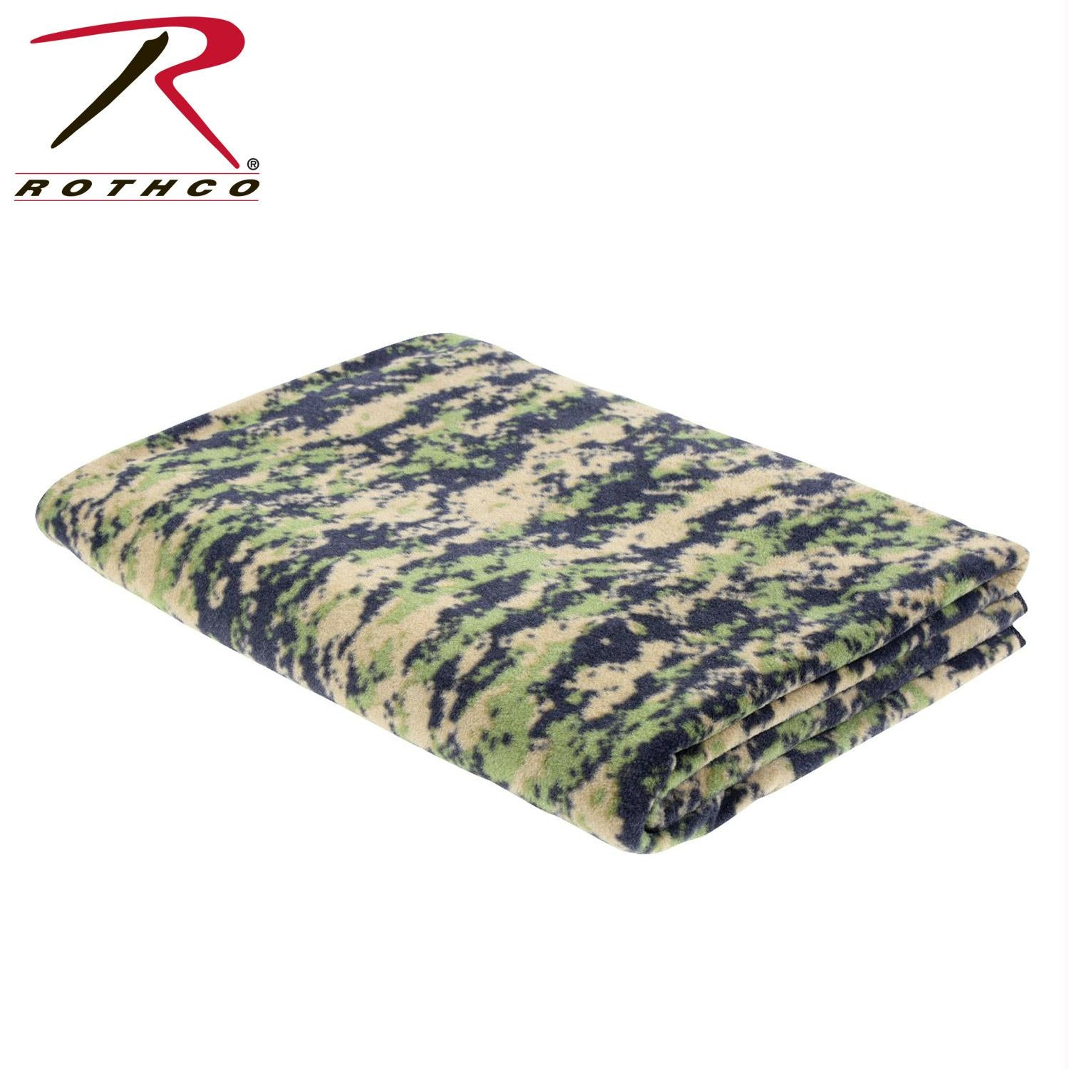 Rothco Camo Fleece Blanket - Woodland Digital Camo