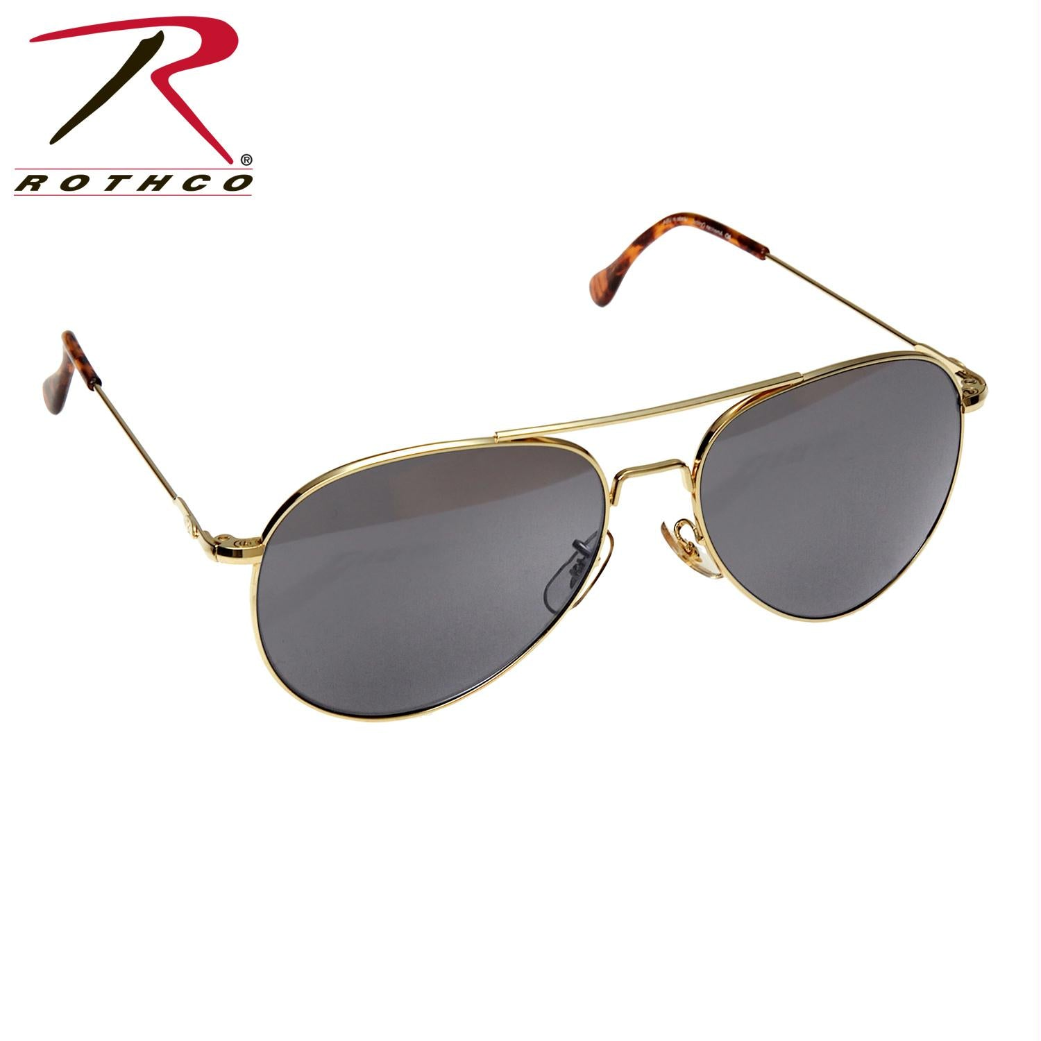 American Optical 58MM General Aviator Sunglasses - Gold