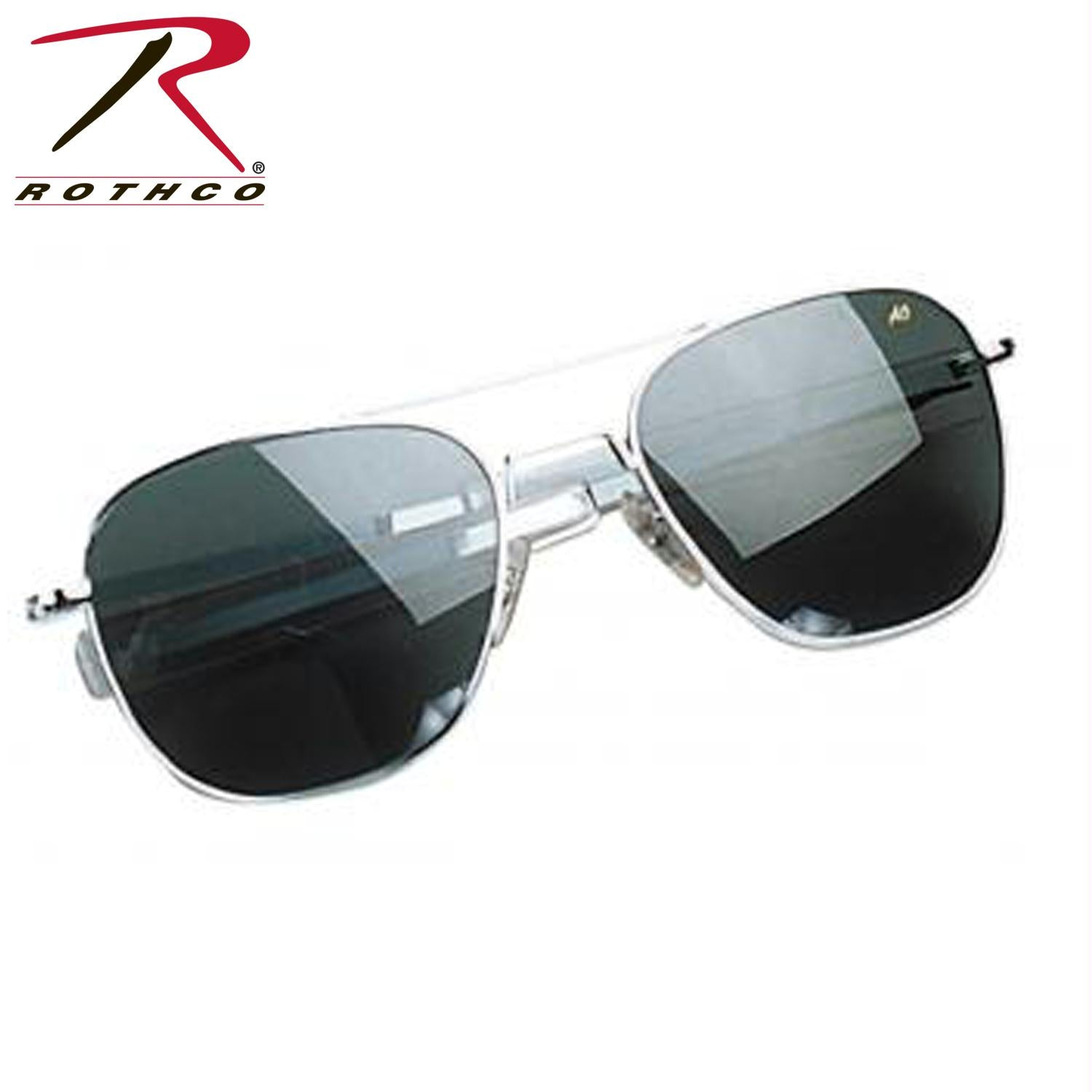 American Optical 52 MM Polarized Pilots Sunglasses - Chrome