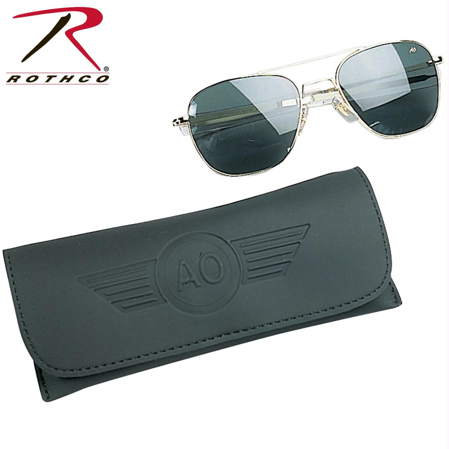 America Optical 55MM Polarized Pilot Sunglasses - Gold