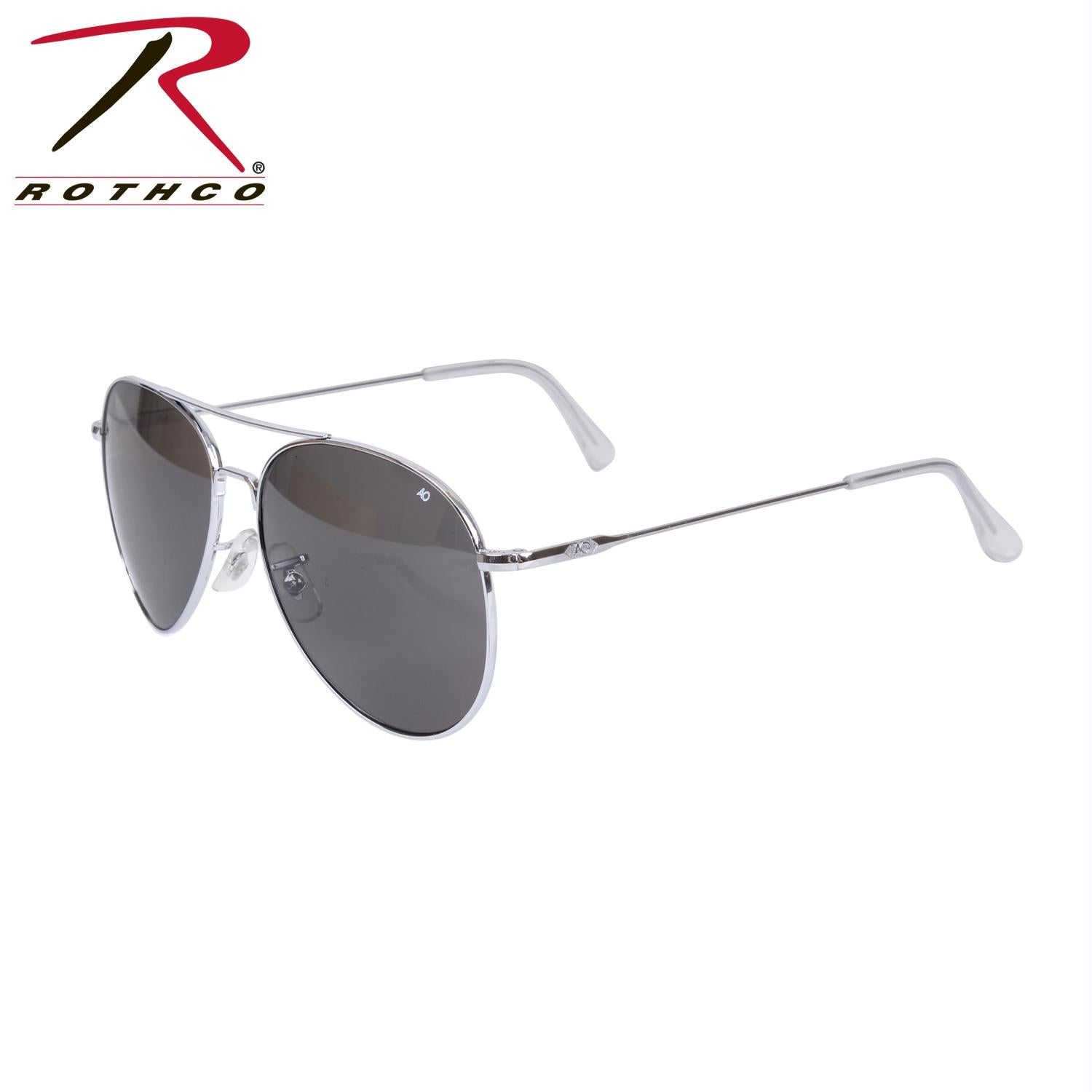 American Optical 58MM General Aviator Sunglasses - Chrome