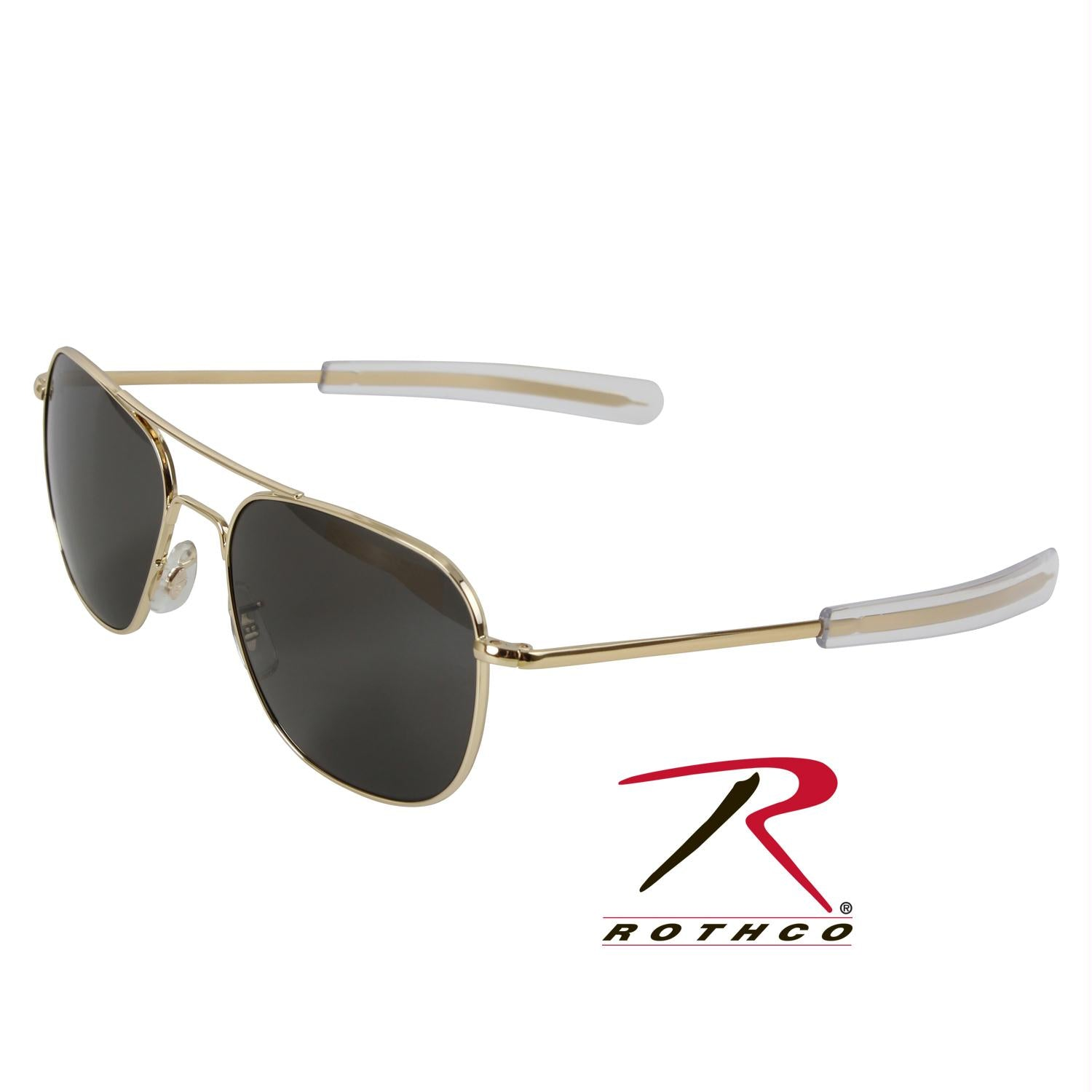 American Optical Original Pilots Sunglasses - Gold   Grey Lens   52 MM c403f6daa3