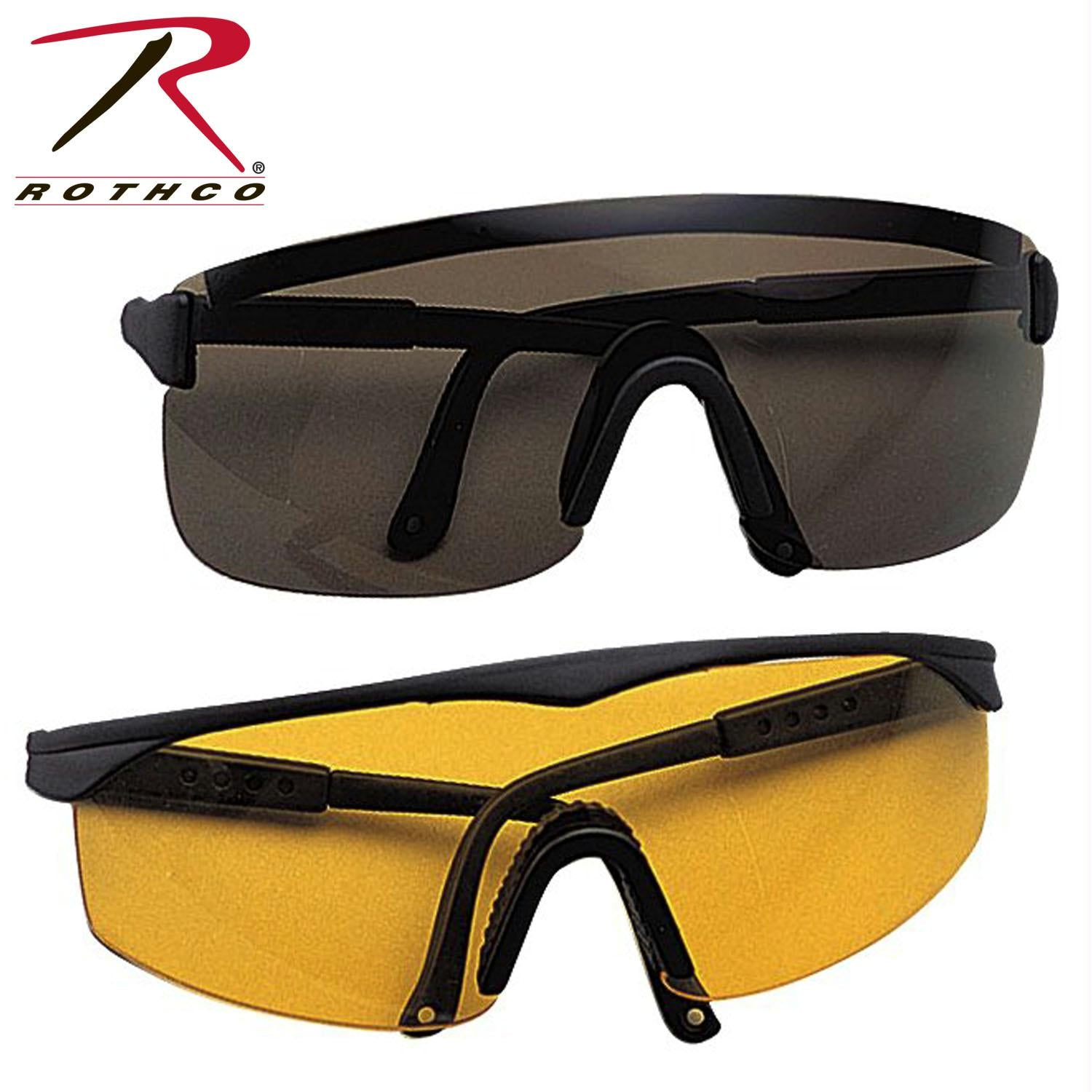Rothco Single Polycarbonate Lens Sports Glasses - Yellow