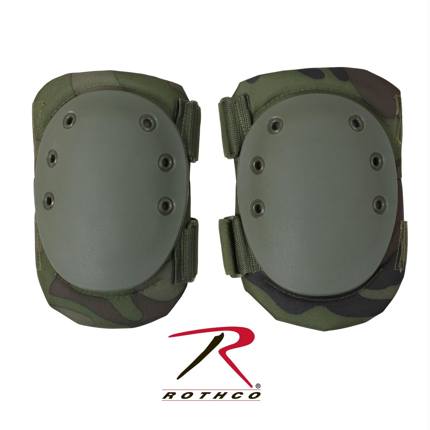 Rothco Tactical Protective Gear Knee Pads - Woodland Camo
