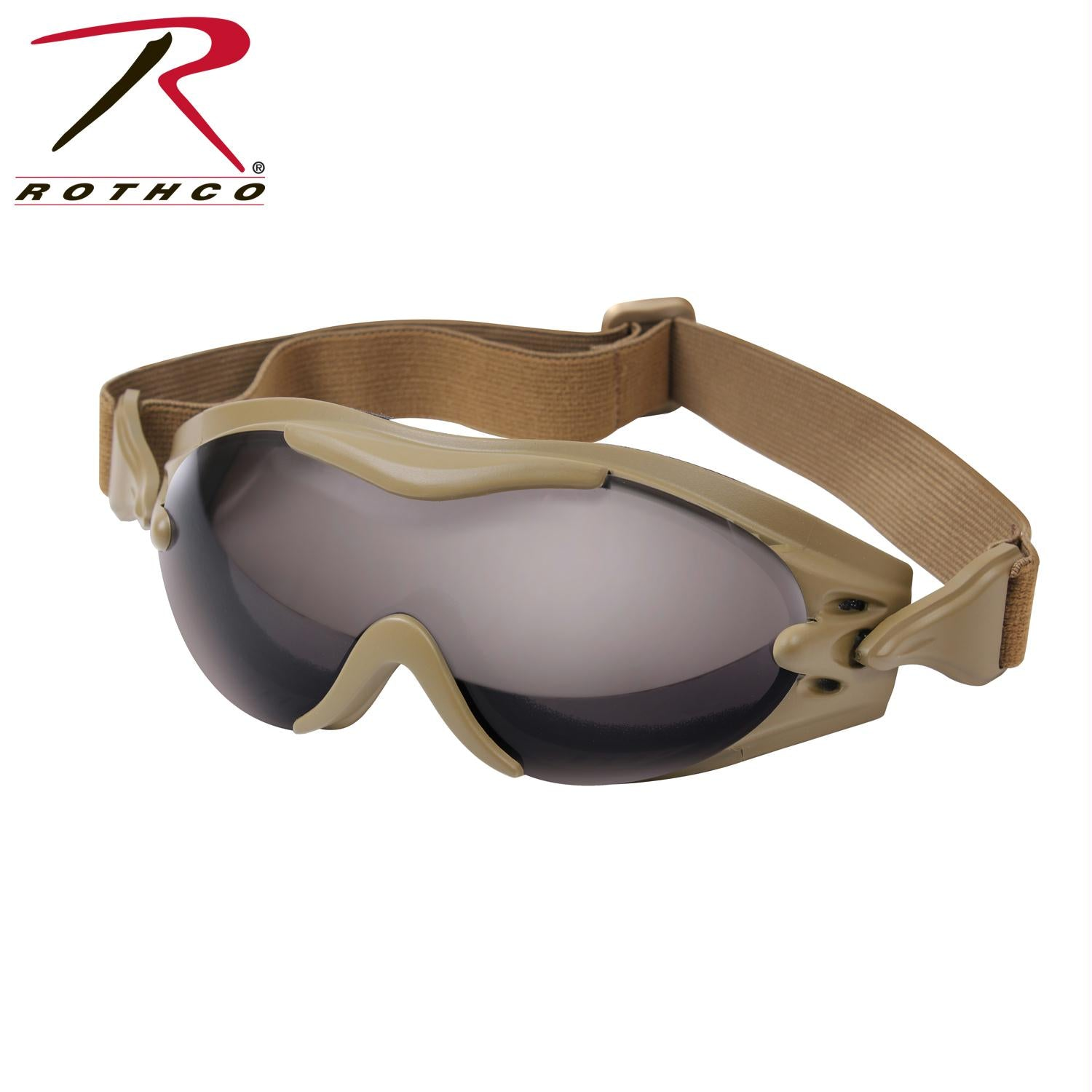 Rothco SWAT Tec Single Lens Tactical Goggle - Coyote Brown