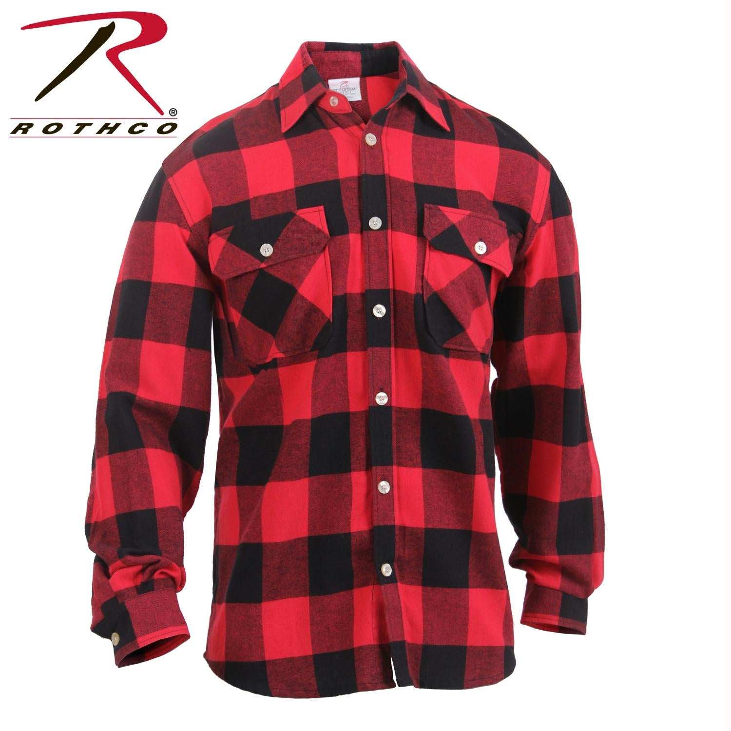 Rothco Lightweight Flannel Shirt - Red / 3XL