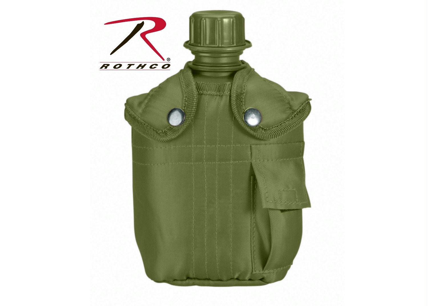 Rothco G.I. Type Canteen & Cover - Olive Drab