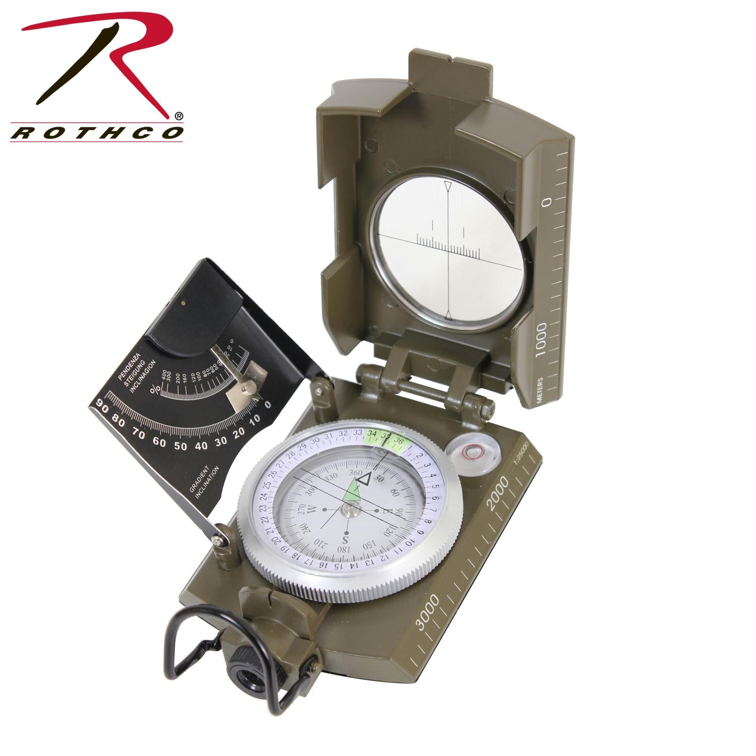 Rothco Deluxe Marching Compass - Olive Drab