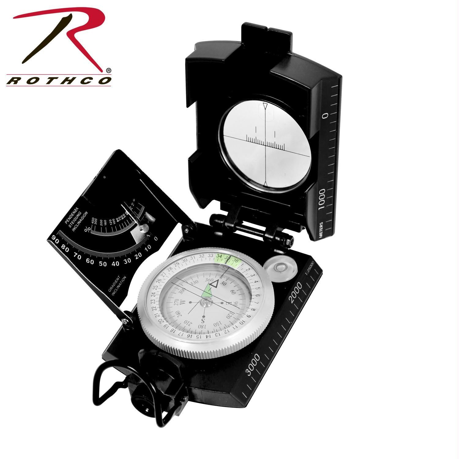 Rothco Deluxe Marching Compass - Black