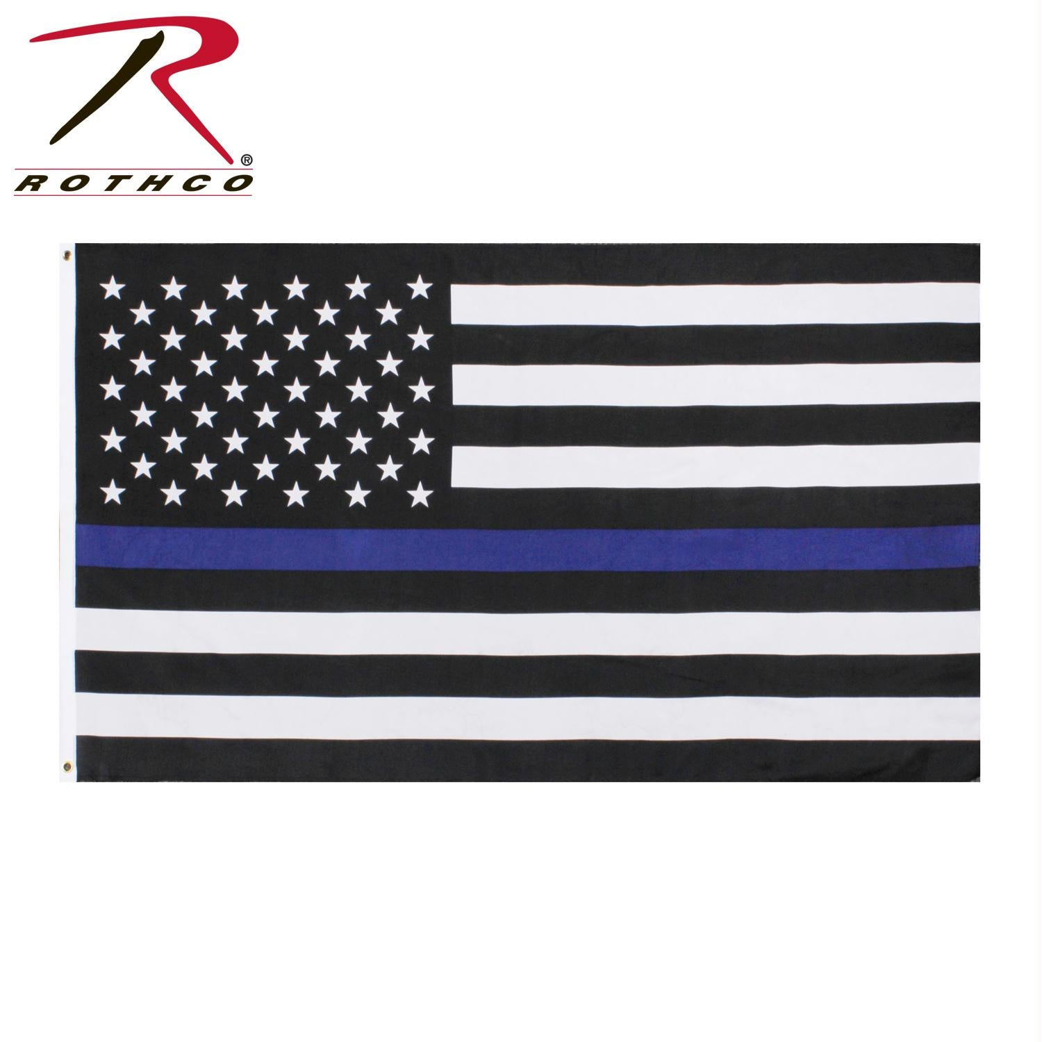 Rothco Thin Blue Line Flag - 2' x 3'