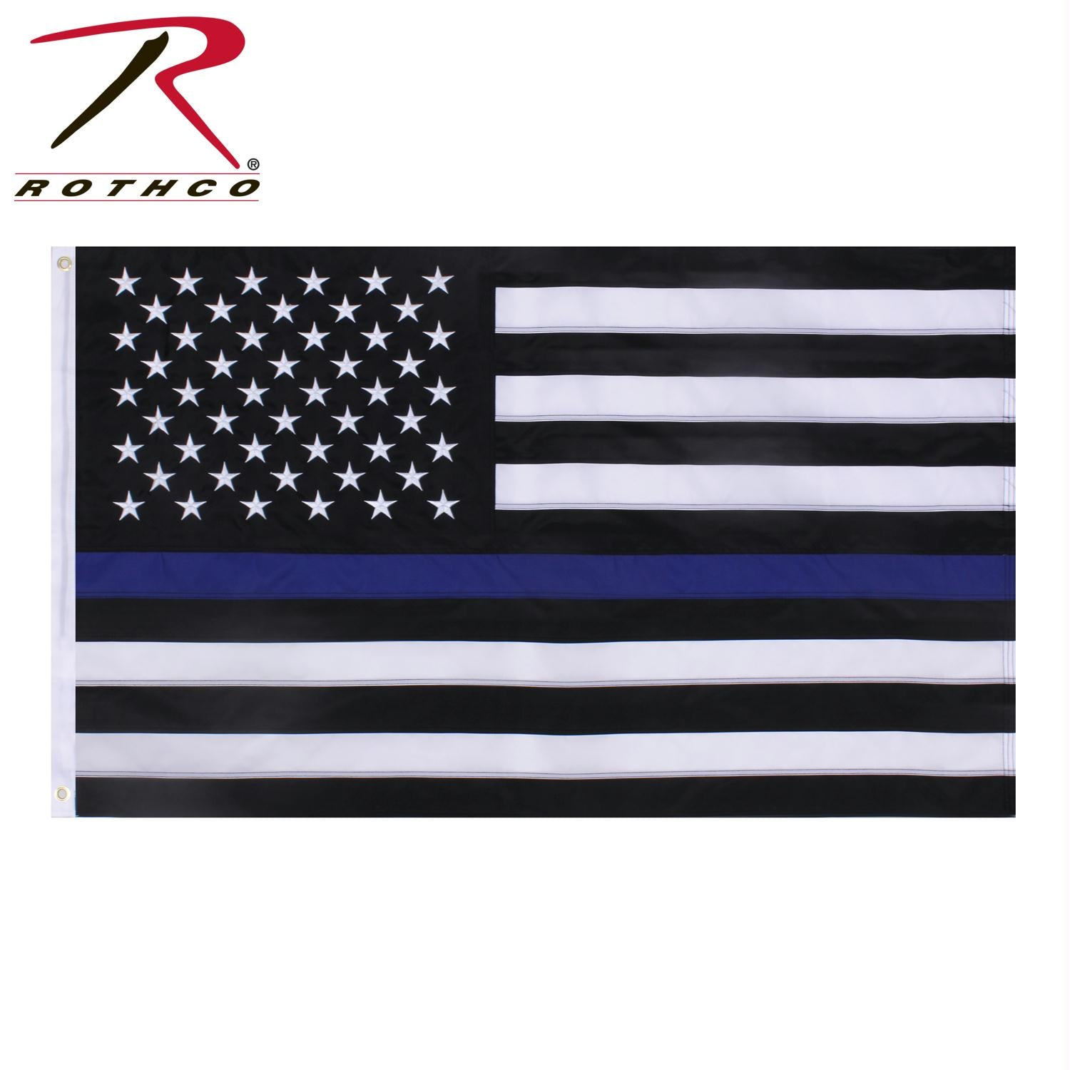 Rothco Deluxe Thin Blue Line Flag - Black