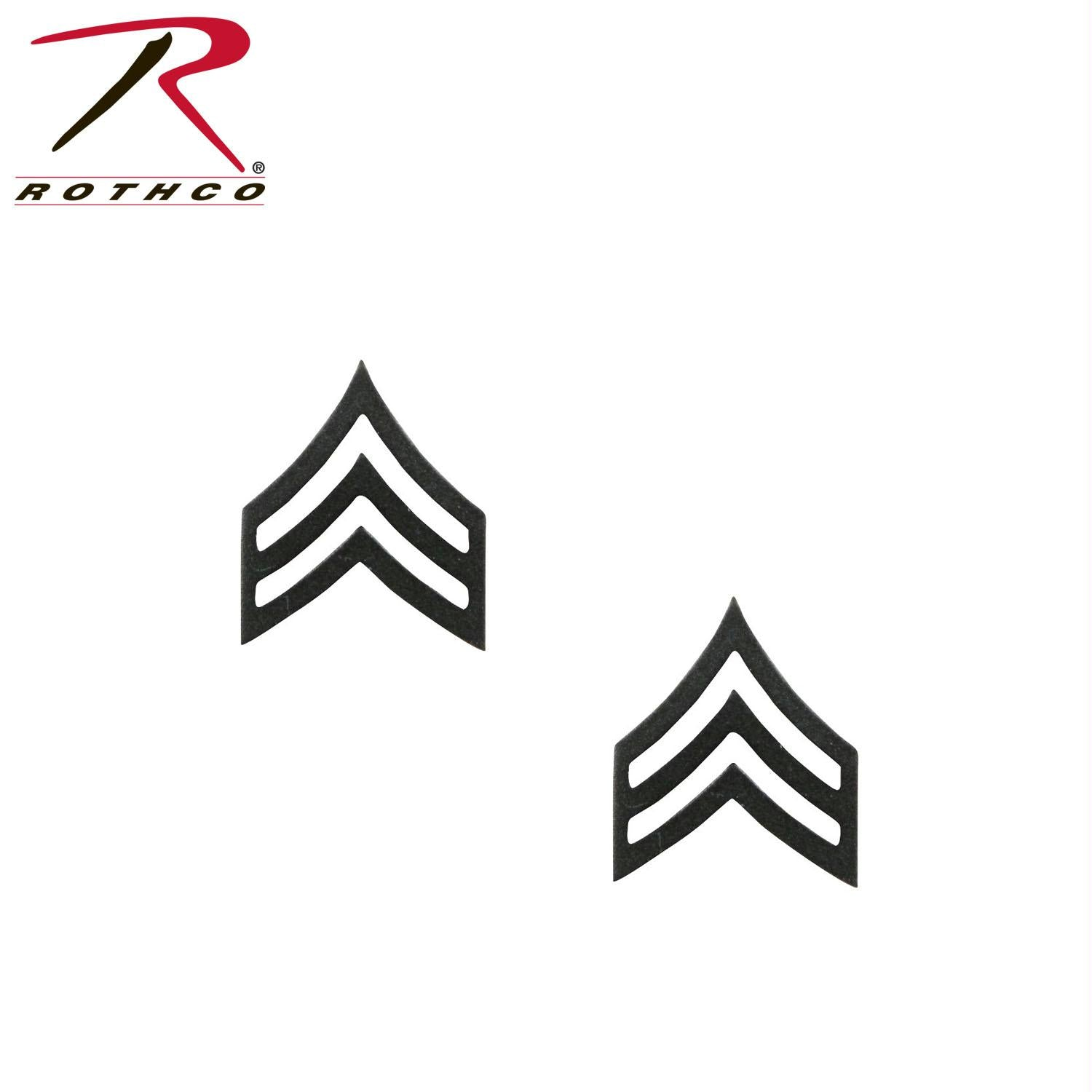 Rothco Sergeant Polished Insignia - Subdued